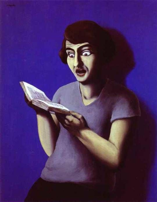 The submissive reader, 1928, Rene Magritte