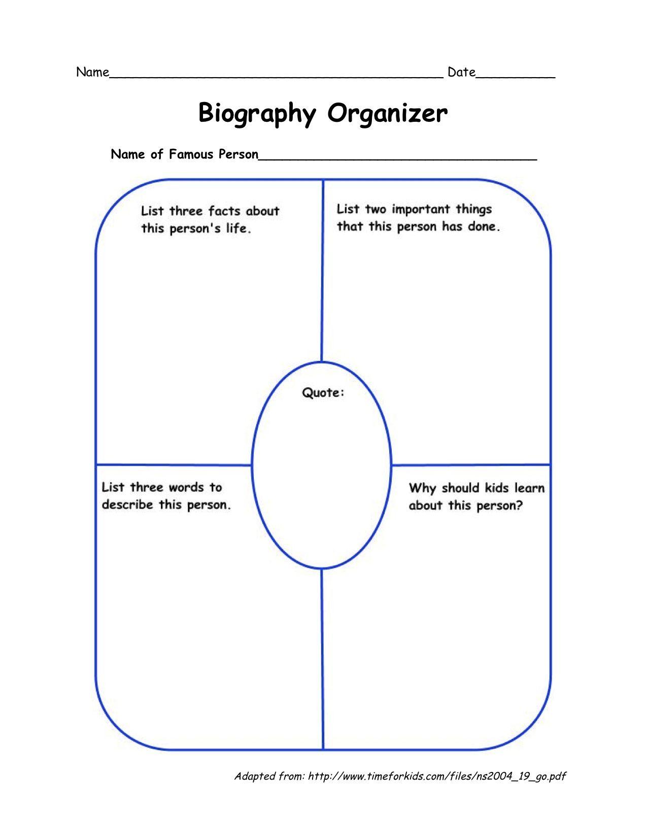 small resolution of templatebiographyorganizer-1.jpg (1275×1651)   Second grade writing
