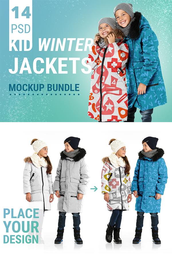 Download Kid Winter Jackets Mockup Bundle Psd Files You Can Download On Creative Market Demo Version Of This Clothing Mockup Branding Design Inspiration Behance Design