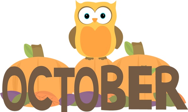 it s currently october owl clip art art images and clip art rh pinterest com october clip art for free october clip art images