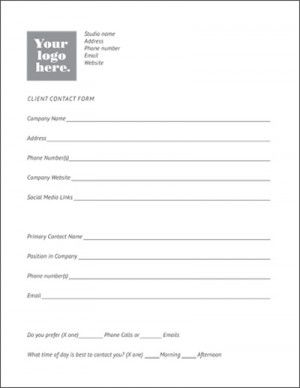 client contact form template | Client Contact Form Template ...