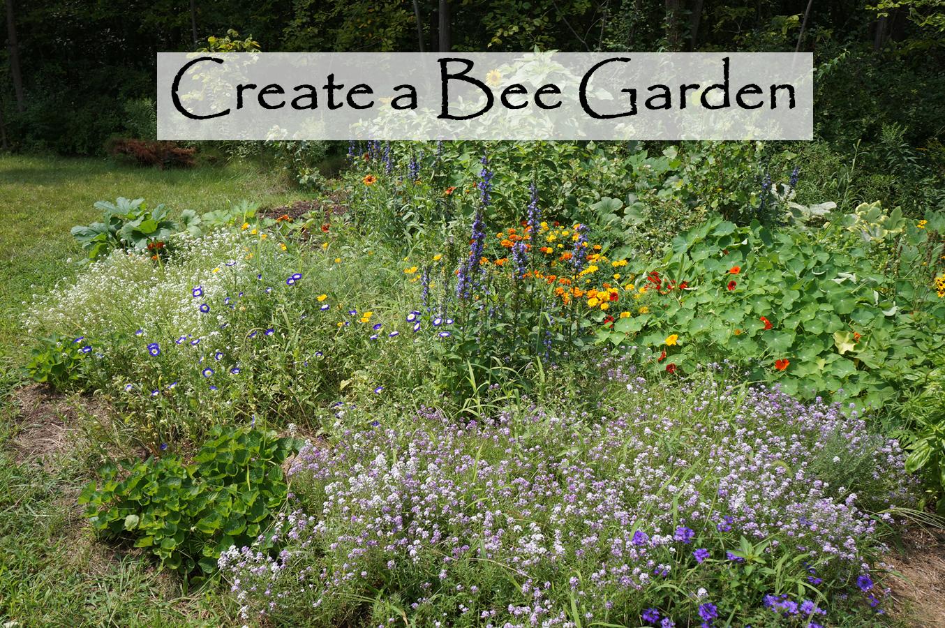 Planning A Bee Garden Bee Garden Bee Garden Design Backyard Farming