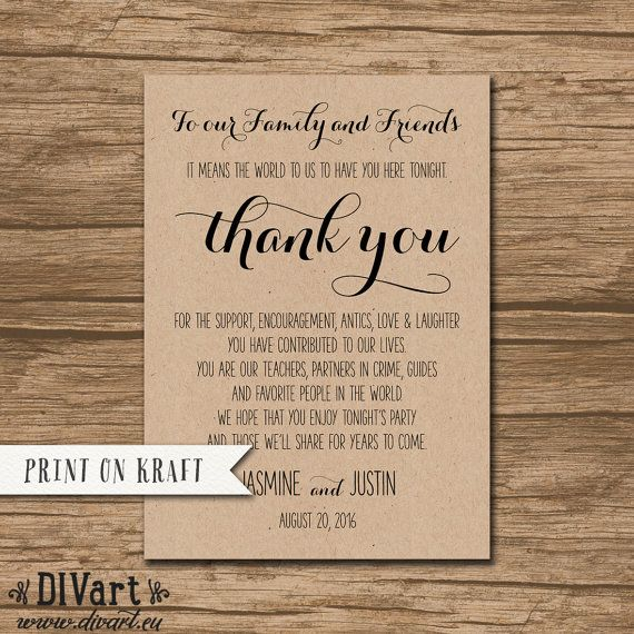 Rustic Wedding Thank You Card Thank You Sign Printable File