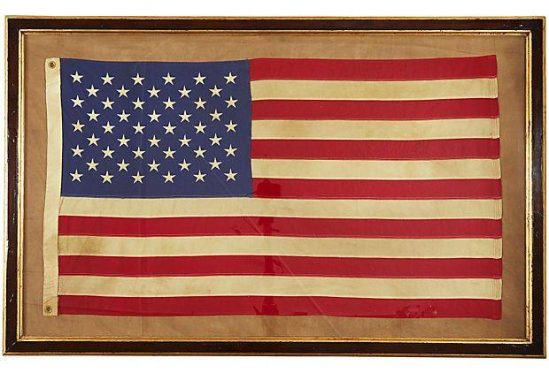 Us Flag 50 Stars Framed Flag Old American Flag Flag