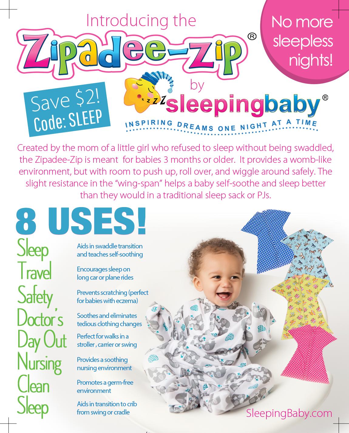 Zipadee-Zip sleeper by Sleeping Baby     Canadian Gift Guide ...