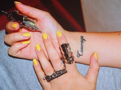 Reminder | 25 Wrist Tattoos  http://www.pennysdaybook.com/2011/09/25-wrist-tattoos/