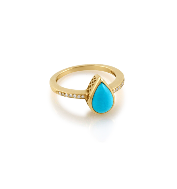 Turquoise and Gold Rings – Jewelry
