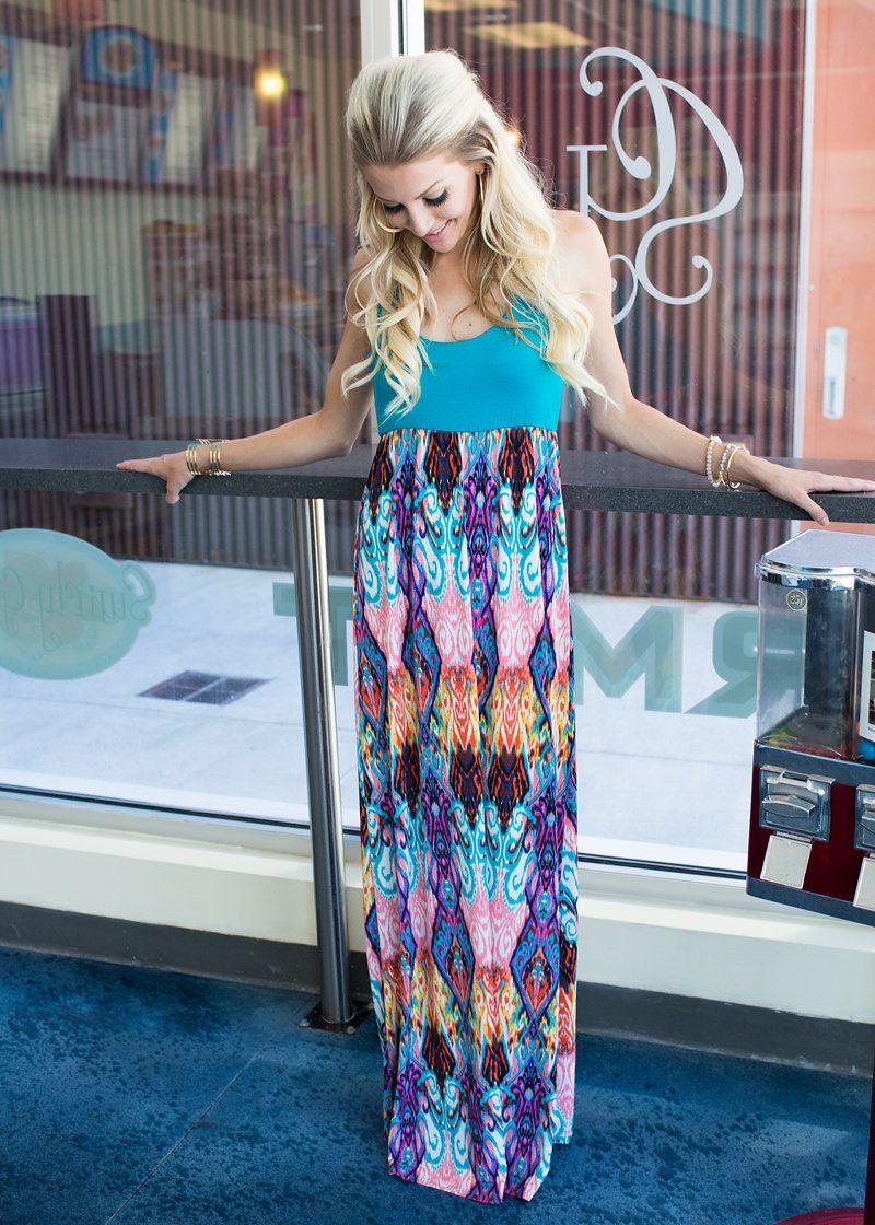 Lose My Mind Tank Maxi Turquoise Maxi Dress Maxi Dresses [ 1120 x 800 Pixel ]