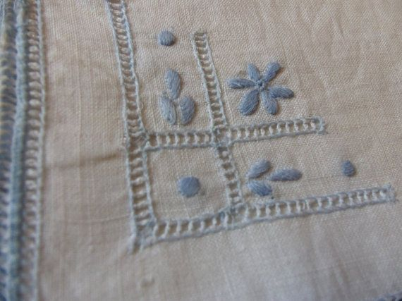 Vintage Linen Hand Embroidered Wedding by 3OldeBroads on Etsy, $8.00