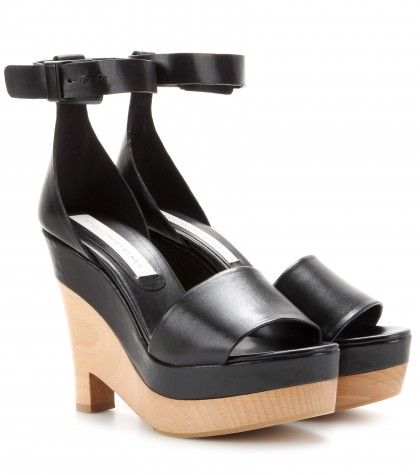 Stella McCartney Vegan Leather Wedge Sandals clearance with paypal 8XuaAosy