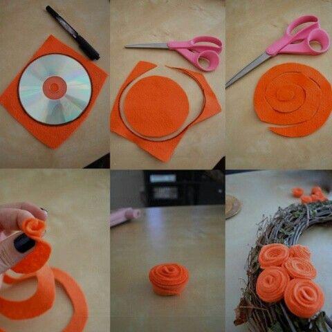 DIY material roses