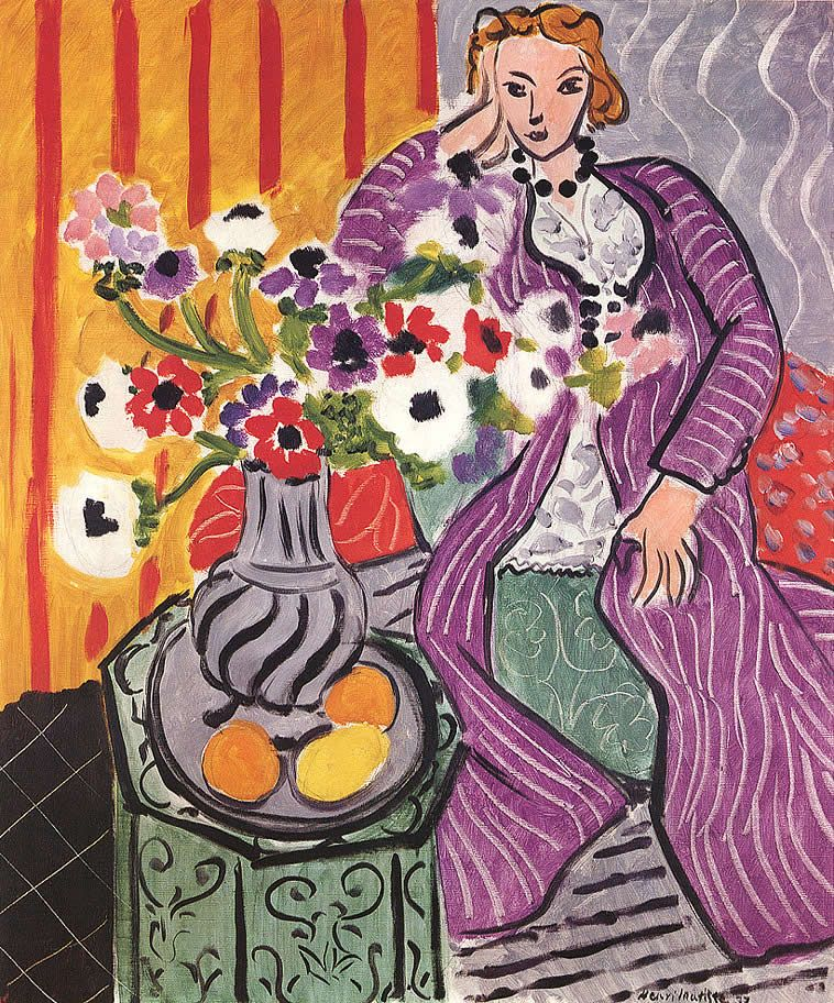 Sub Plan Matisse Vase Of Flowers 187 K 6 Art K 6 Art