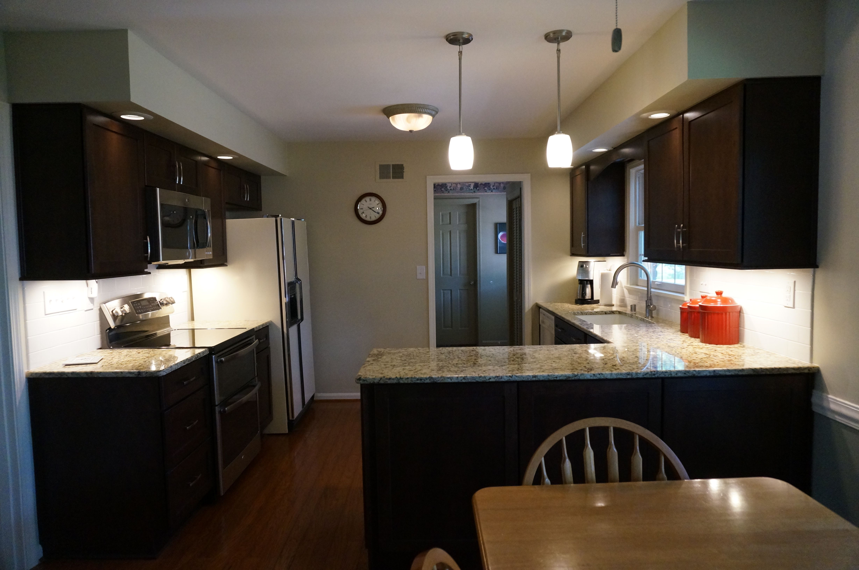 Merillat Kitchen Cabinets Merillat Classic Cabinetry Cherry With Pecan Stain Full Overlay