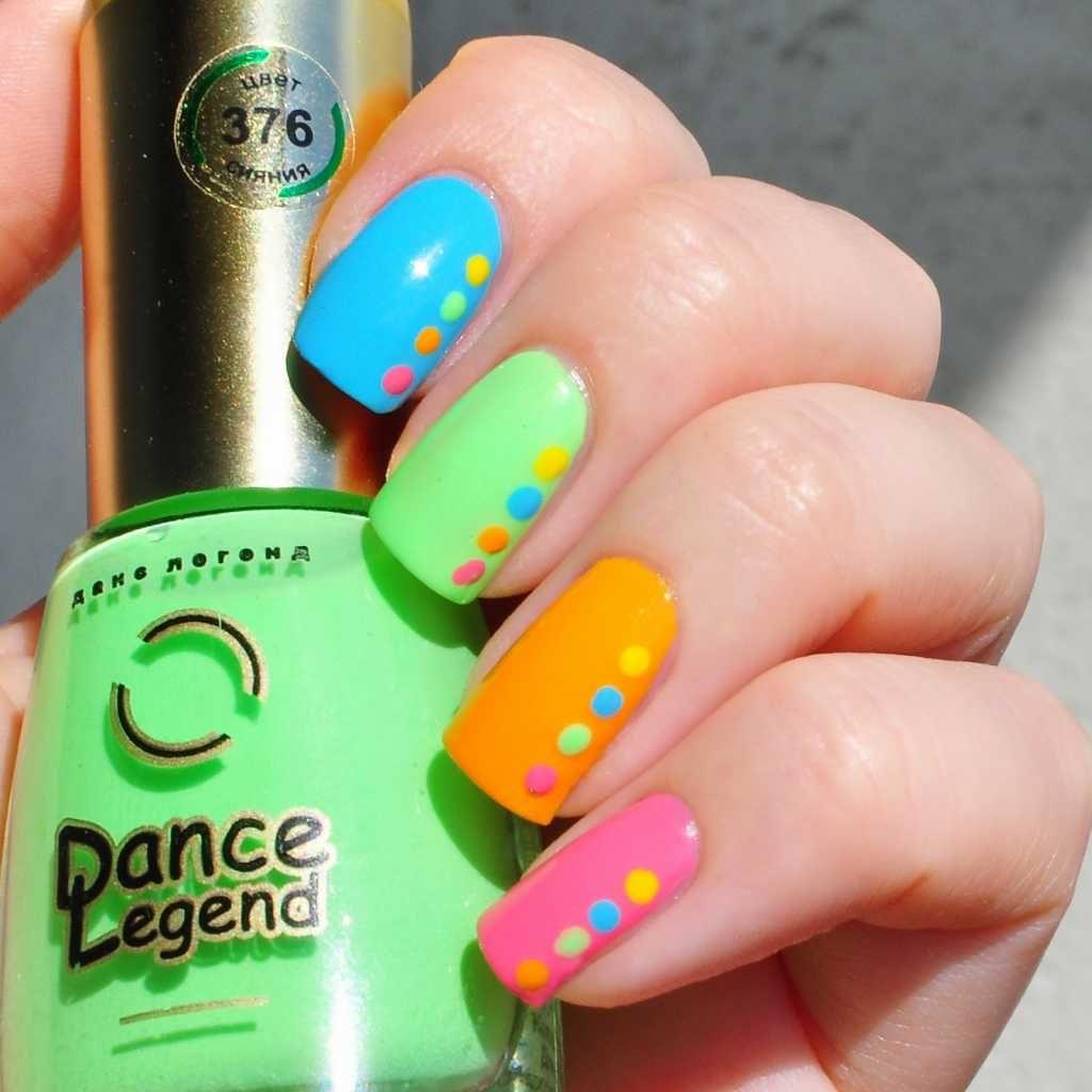 Colorful summer nail art :: one1lady.com :: #nail #nails #nailart #manicure