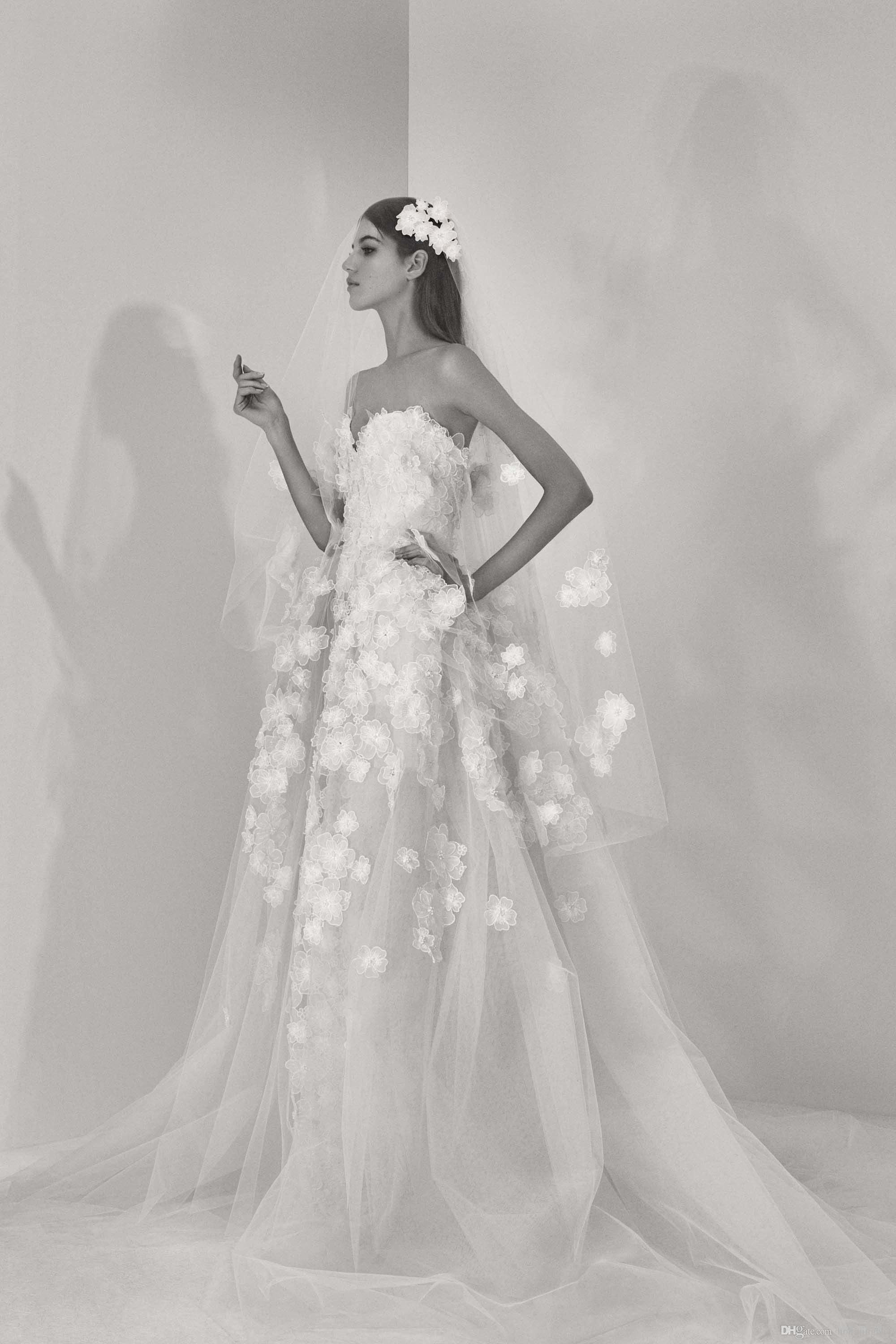 2017 elie saab 3d floral appliques sweeheart a line wedding dresses 2017 elie saab 3d floral appliques sweeheart a line wedding dresses floor length sleeveless bride gowns free shipping junglespirit Gallery