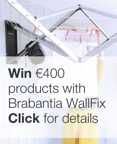 Take part in our #WallFixexperience #competition for a chance to #win €400 worth of Brabantia laundry products. Click for more info and repin please!