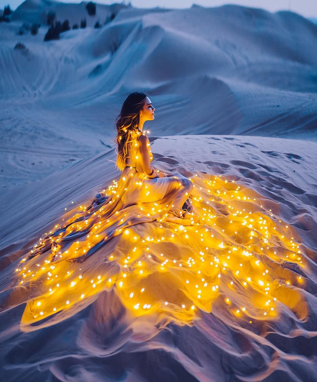 Russian Photographer Kristina Makeeva Captures Women In Dresses Set Against Magical Landscapes