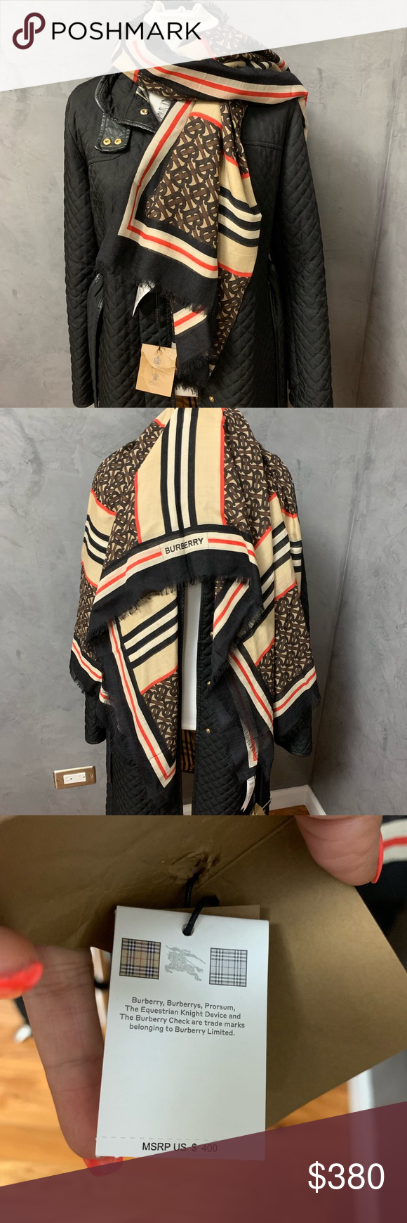 Burberry large scarf Brand new and authentic.. Burberry