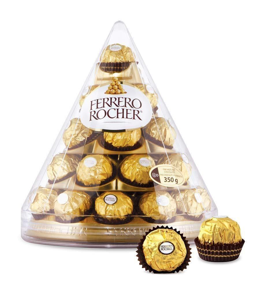 28 Ferrero Rocher Cone Gift Set Milk Chocolate Hazelnut