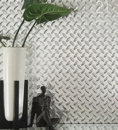 Chrome Diamond Plate plastic sheets for walls | small house