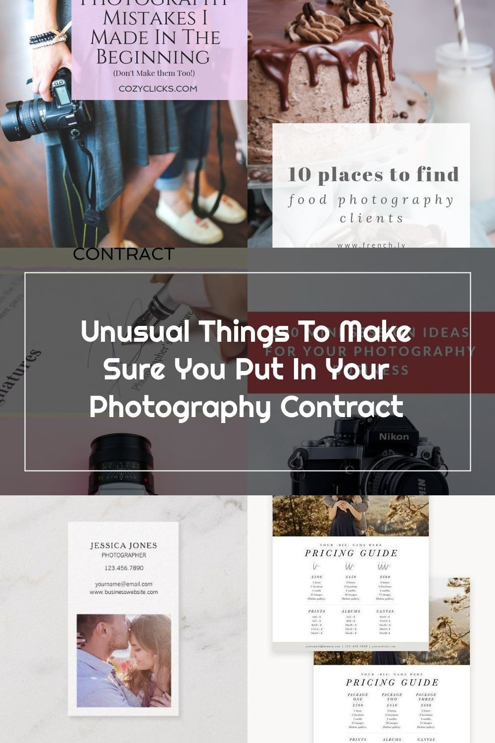 Wondering what o add in your photography contract? Some
