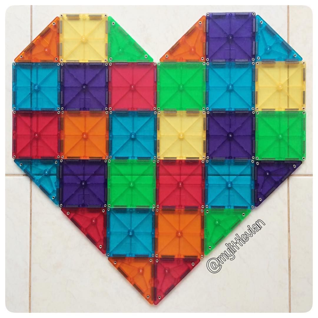 Say it with heart ❤ #magnatiles | Magna-Tiles® Creations ...