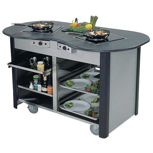 Lakeside 3070 60 Creation Station Mobile Induction Cooking Cart 4 Induction Cooking Home Appliances Lakeside