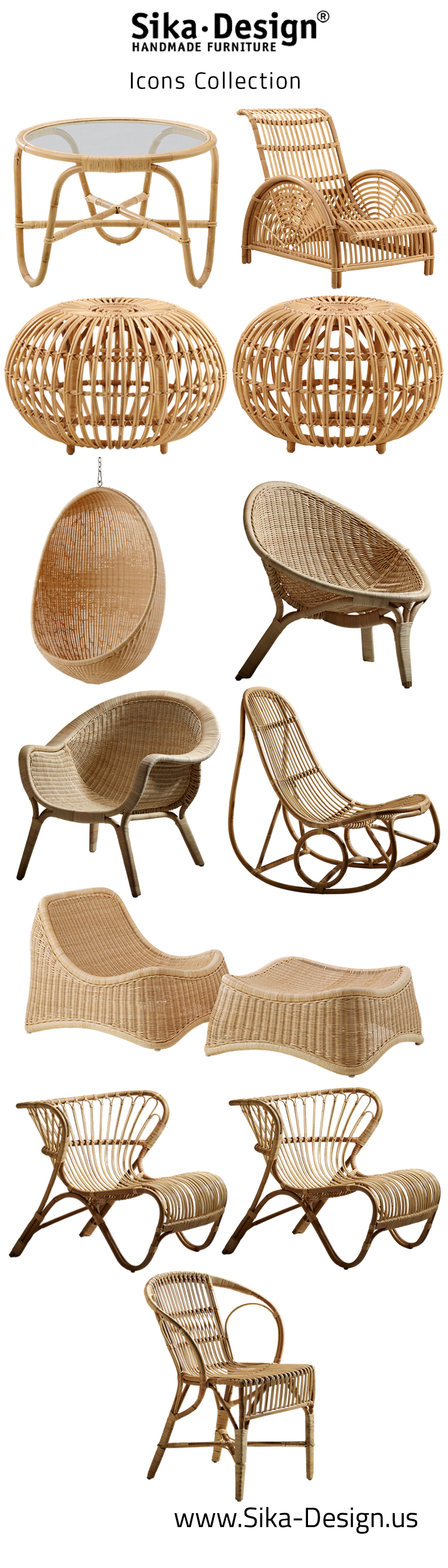 Sika Design Icons Collection featuring pieces from Nanna Ditzel