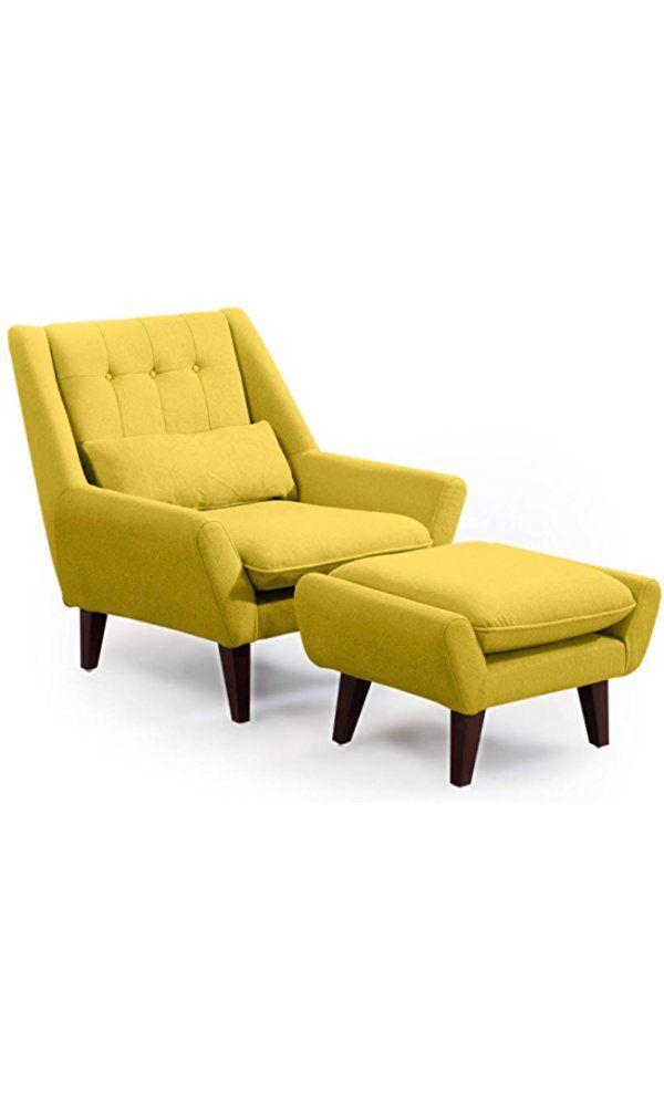 Kardiel Stuart Mid Century Modern Lounge Chair U0026 Ottoman, Dijon Cashmere  Wool Best Price