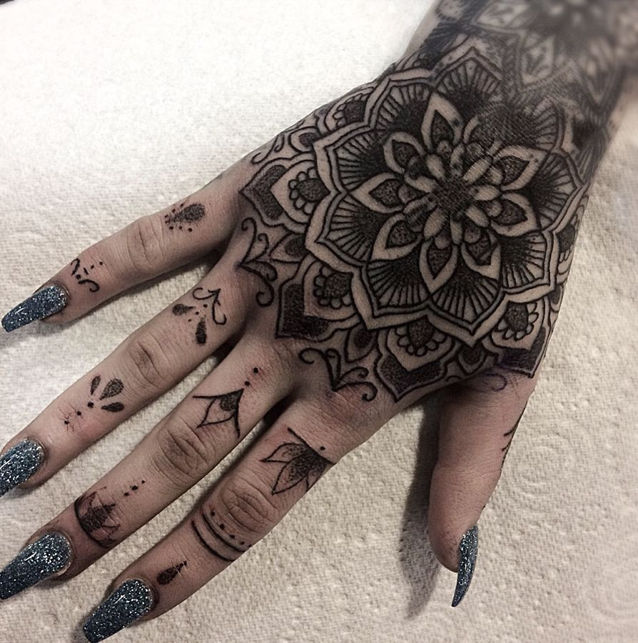 50 Of The Most Beautiful Mandala Tattoo Designs For Your Body Soul Mandala Hand Tattoos Traditional Hand Tattoo Hand Tattoos