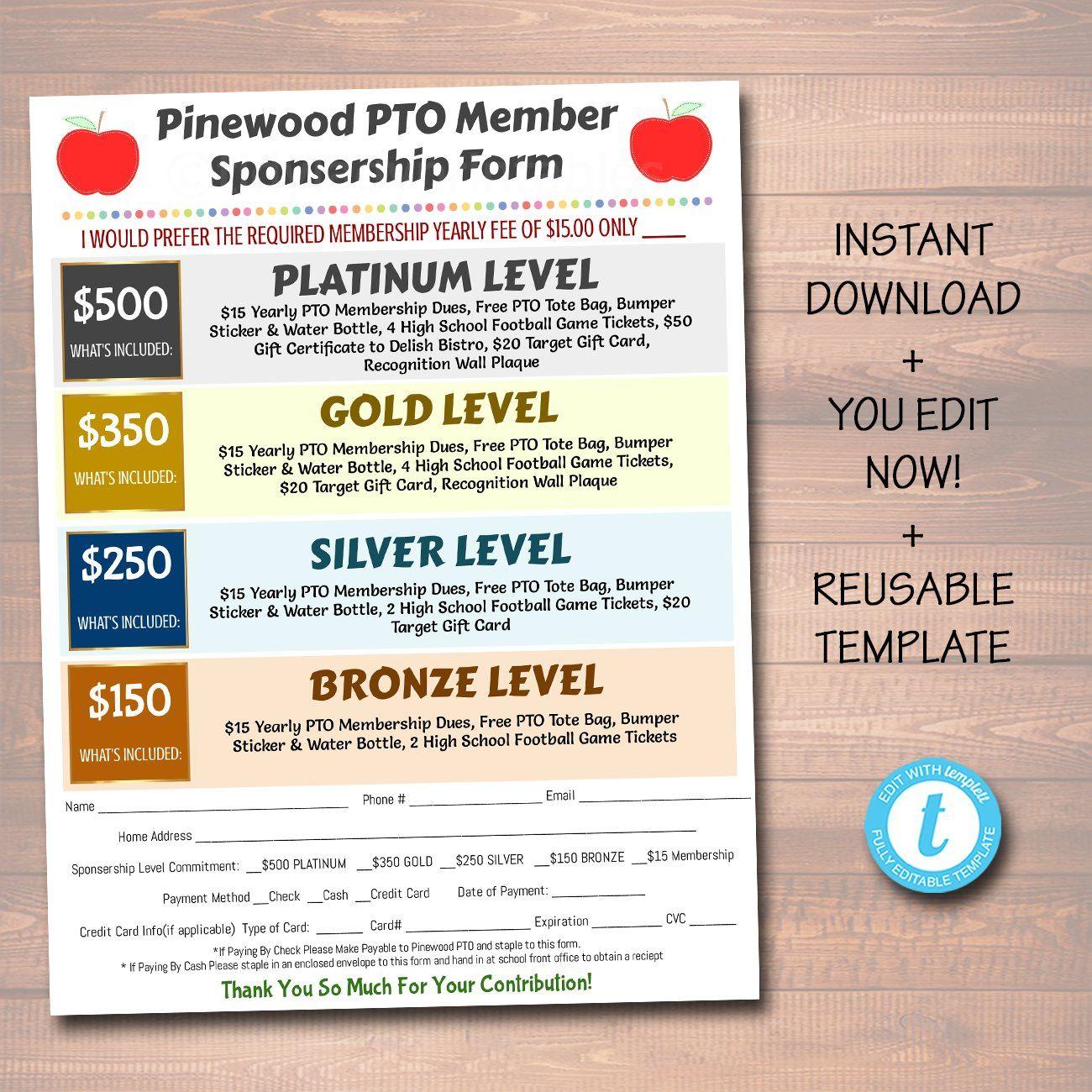 Pto Pta Informational Flyer Printable Handout School Agenda Pta Organization School Calendar