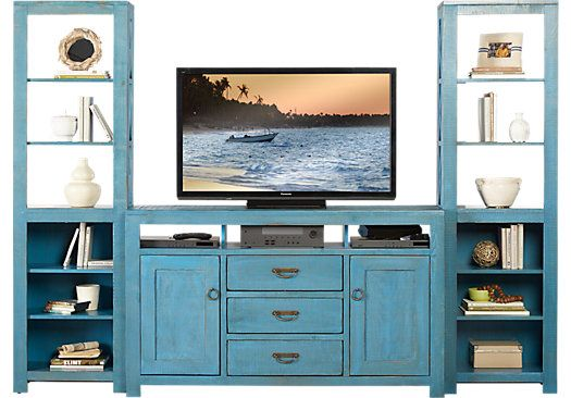 Shop for a South Creek Blue 3 Pc Wall Unit at Rooms To Go Find Wall