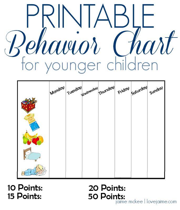 DIY Behavior/reward Chart For Kids {printable}  Printable Rewards Charts