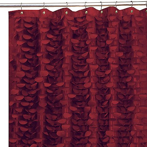 Charmant Gigi Burgundy 72 Inch X 72 Inch Fabric Shower Curtain