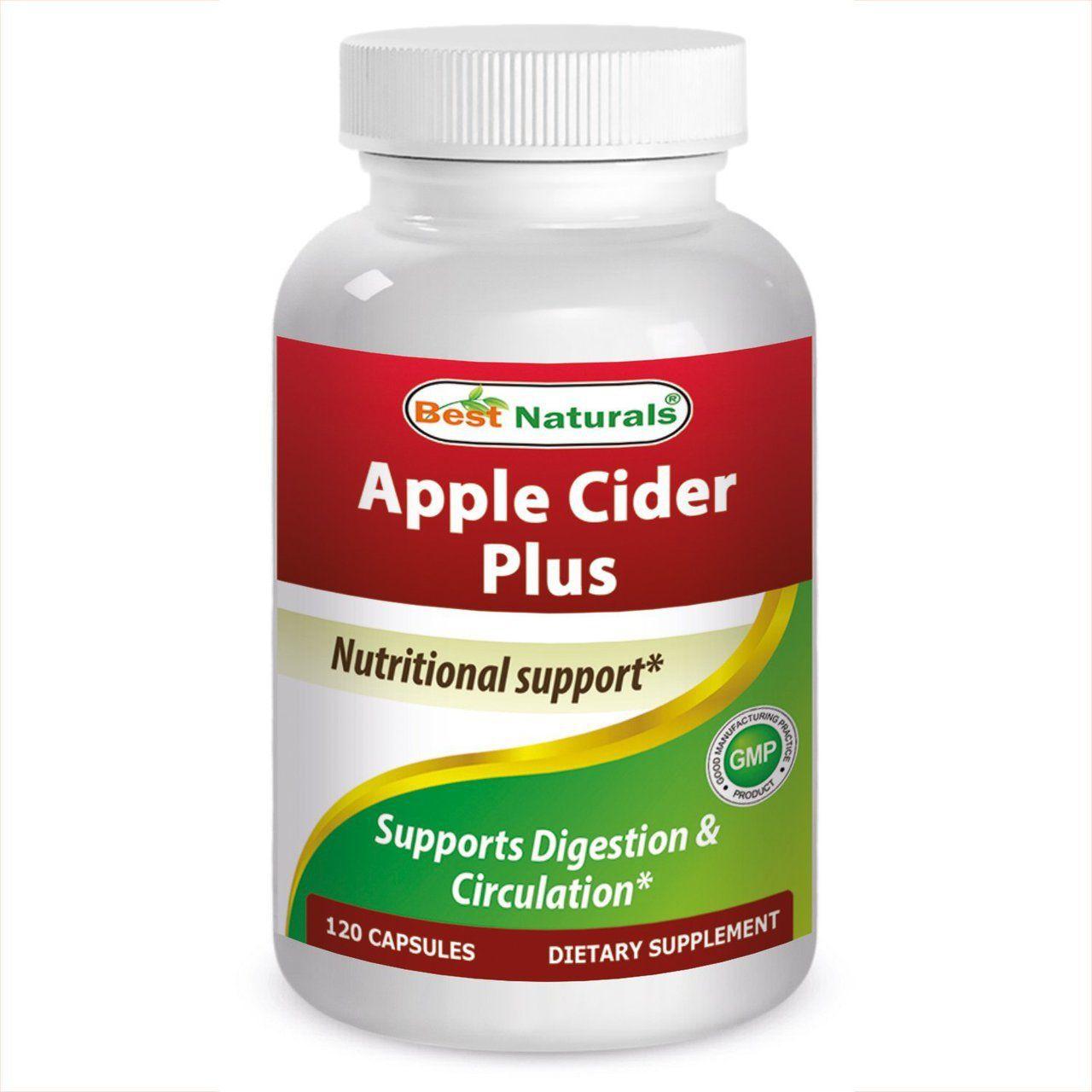 Best naturals apple cider vinegar capsules 500 mg 120 ct