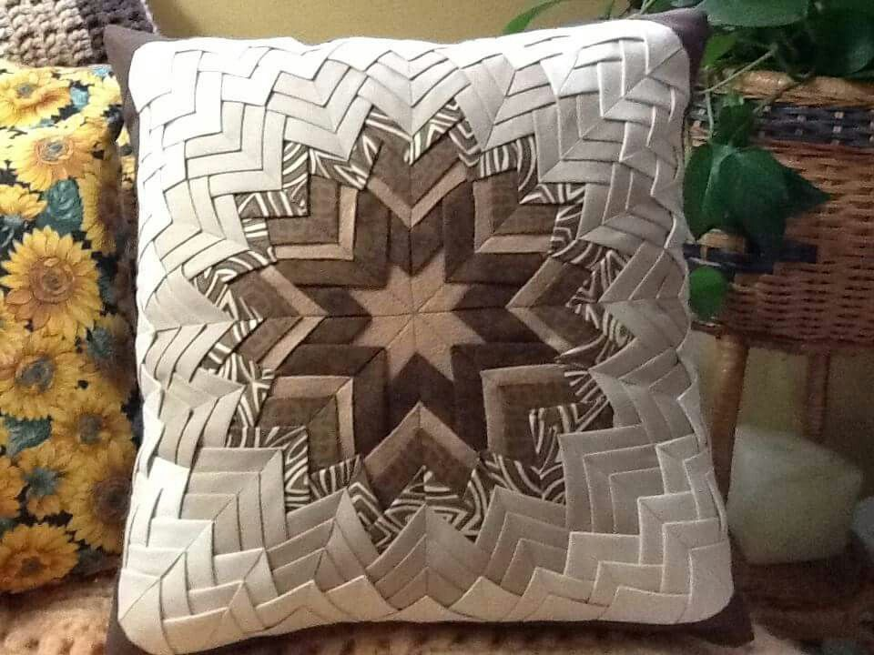 Somerset Or Folded Star Fabric Origami Quilted