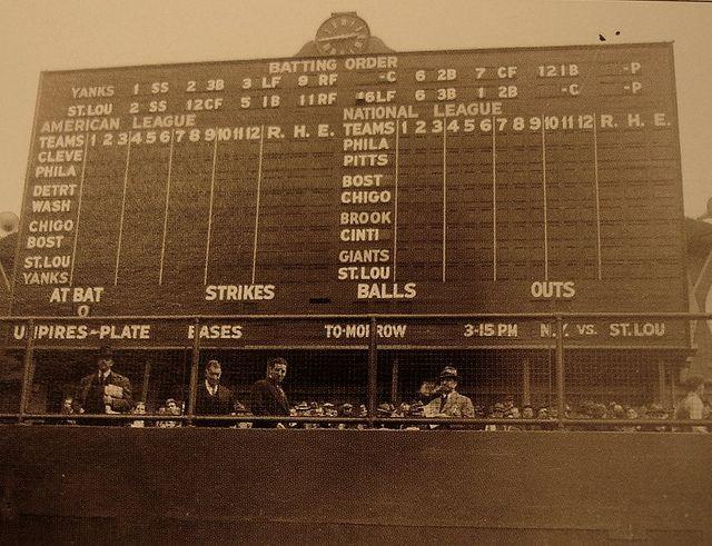 Yankee Stadium - Original Scoreboard | Legends of the Game ...  Yankees
