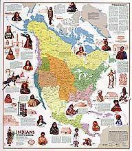 MapNorth America Native Americans Chart Wish List Learning
