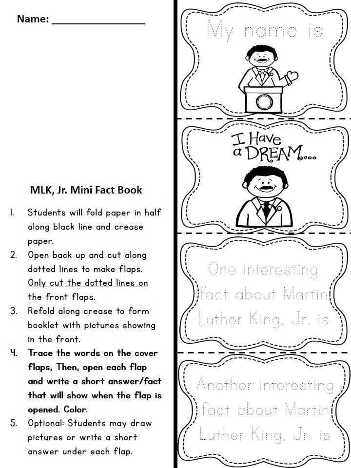 Martin Luther King, Jr Math and Literacy (Print \ Go Common Core - print lines on paper