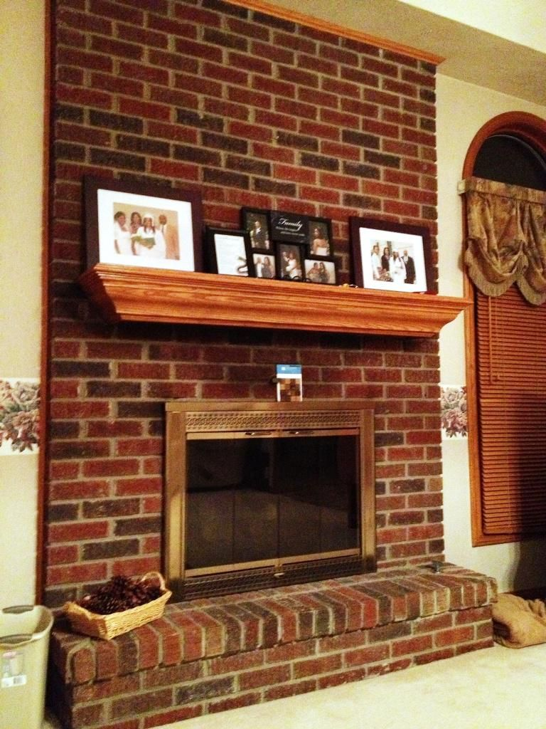 Image Result For How To Style Red Brick Fireplace Mantel