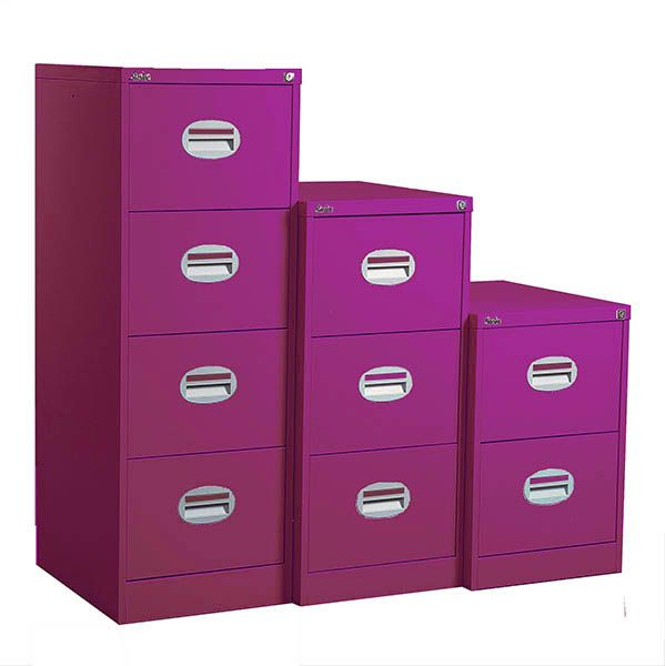 Purple Filing Cabinet 4 Drawers Filing Cabinet Cabinet Drawers