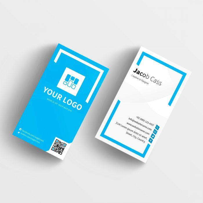 Blue Business Card Template Templatescraze Com Blue Business Card Business Card Template Cheap Business Cards