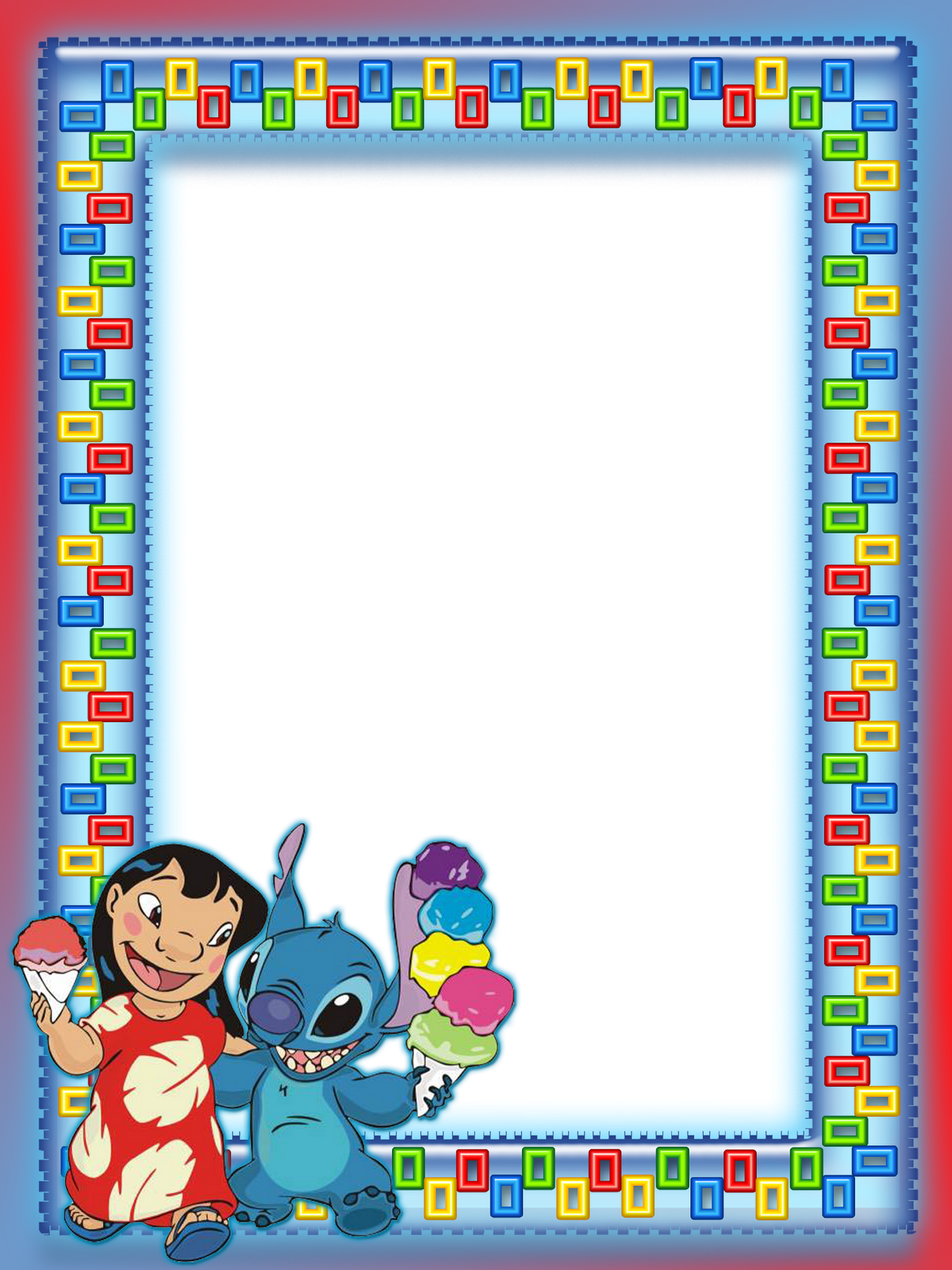 lilo and stitch kids transparent photo frame