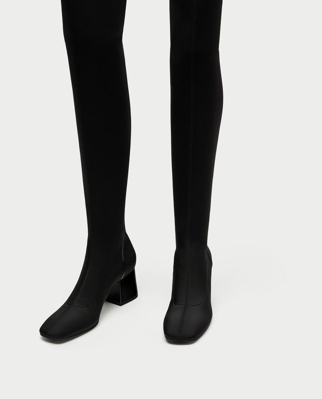 c35fe96c488 Image 4 of FABRIC OVER-THE-KNEE HIGH HEEL BOOTS from Zara