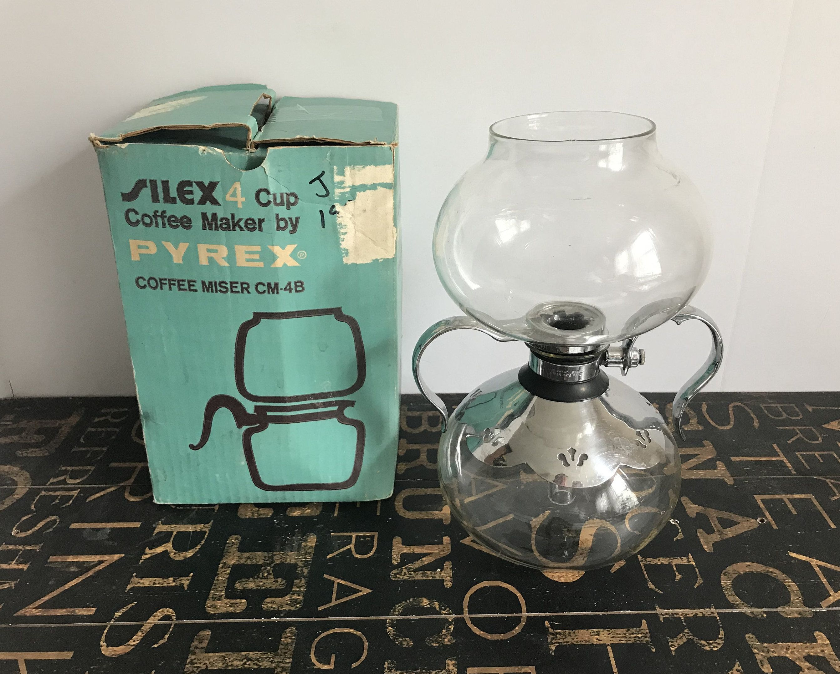 Silex Four 4 Cup Coffee Maker By Pyrex Coffee Miser Glass Vacuum Coffee Maker Has Instructions And Acce Vacuum Coffee Maker 4 Cup Coffee Maker Coffee Maker