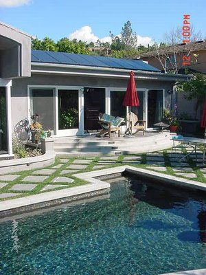 Solar Pool Ameco Solar Luxury Landscaping Solar Pool Sloped Yard