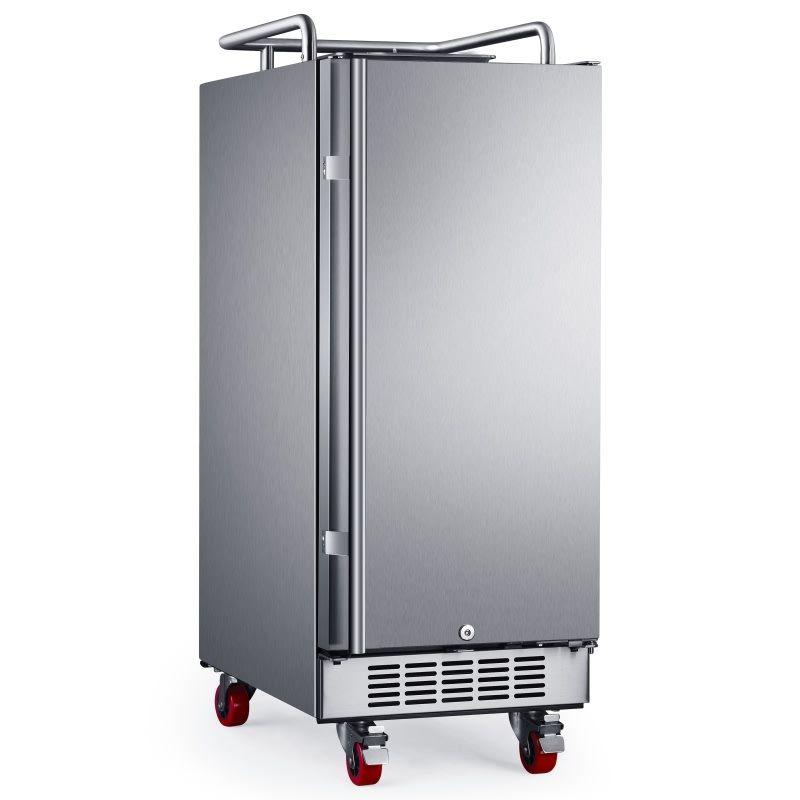 edgestar br1500od outdoor kitchen design undercounter kegerator stainless steel refrigerator on outdoor kitchen kegerator id=22598