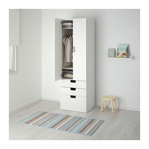 STUVA Aufbewkomb.+Türen/Schubladen - weiß/weiß - IKEA