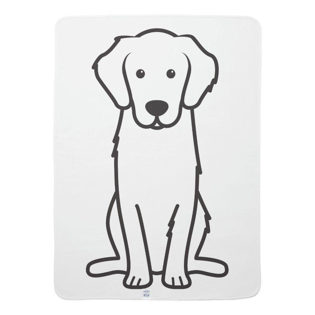 Golden Retriever Dog Cartoon Stroller Blanket Zazzle Com In 2021 Dog Line Drawing Dog Line Art Golden Retriever Colors [ 1024 x 1024 Pixel ]