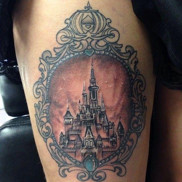 cinderella 39 s castle tattoo ink peircings pinterest castle tattoo tattoo and disney. Black Bedroom Furniture Sets. Home Design Ideas